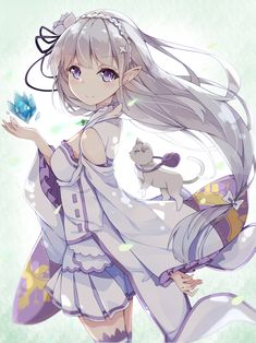 emilia (re zero),Anime,Аниме,Re Zero Kara Hajimeru Isekai Seikatsu,dango remi,Anime Art,Аниме арт, Аниме-арт