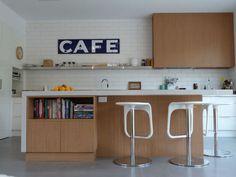 Blue Vintage: Cocinas en blanco y madera