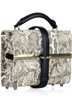 ALEXANDER WANG Tai snakeskin-effect box bag