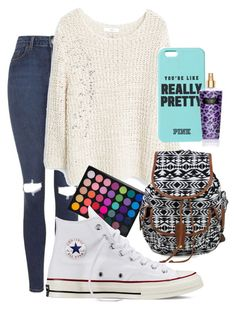 """Pretty"" by lauraumi ❤ liked on Polyvore featuring Topshop, MANGO and Converse"