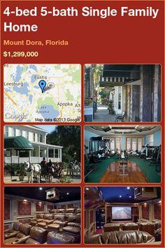 4-bed 5-bath Single Family Home in Mount Dora, Florida ►$1,299,000 #PropertyForSale #RealEstate #Florida http://florida-magic.com/properties/9944-single-family-home-for-sale-in-mount-dora-florida-with-4-bedroom-5-bathroom