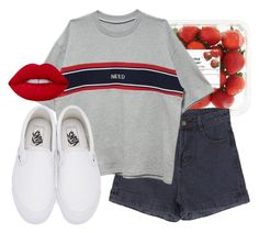 """""""Untitled #352"""" by jadettaa ❤ liked on Polyvore featuring Vans and Lime Crime"""