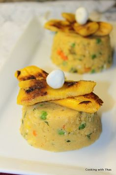 veggie and feta polenta
