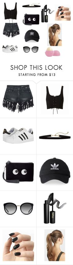 """""""Untitled #73"""" by samianob ❤ liked on Polyvore featuring Sans Souci, adidas, Anya Hindmarch, Dolce&Gabbana, INIKA, Incoco, France Luxe and Eos"""