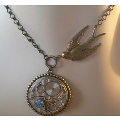 Swooping Swallow Clockwork Necklace