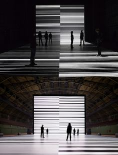 transfinite at Park Avenue Armory / Ryoji Ikeda. Light art installation.
