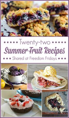 22 Summer Fruit Recipes