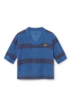 Bobo Choses Stripes Linen Kimono Shirt