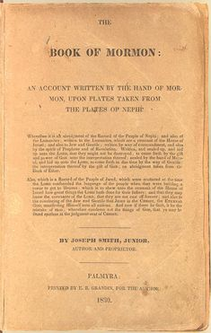 The Book of Mormon - Another Testament of Jesus Christ, translated by the Prophet Joseph Smith