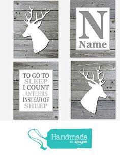Baby Boy Nursery Art Deer Head Antler Decor Gray Personalize Boy Room Prints To Go To Sleep Rustic Wood Baby Nursery Silhouette Nursery Art Grey Nursery Boy, Woodland Nursery Boy, Nursery Decor Boy, Boys Room Decor, Rustic Nursery, Nursery Ideas, Outdoor Nursery, Nursery Signs, Nursery Bedding