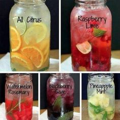 homemade vitamin water recipes - place in glass container. Refrigerate for 4-6 hours
