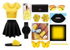 """""""BLACK & YELLOW"""" by leonwilson ❤ liked on Polyvore featuring Casetify, Givenchy, Prada, Bling Jewelry and CLUSE"""