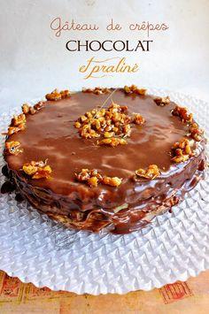 gateau de crêpes chocolat et praliné Waffles, Pancakes, Crepes Party, Dessert Original, French Pastries, Cool Kitchens, Biscuits, Chocolate Cake, Sweet Recipes