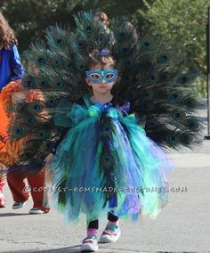 Beautiful Peacock Costume for a 3 Year-Old Girl... Coolest Halloween Costume Contest