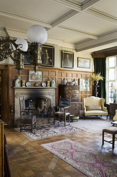 The hall at the new house Scotney via Treasure Hunt National Trust Collections