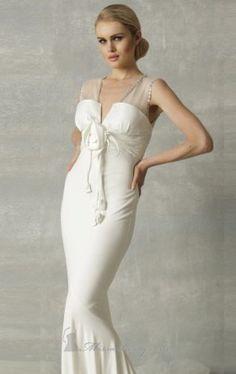 sheer strap mermaid dress nicole bakti Nicole Bakti 6260 Dress