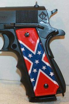 Confederate flag pistol handle