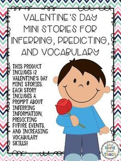 This product includes 12 seasonal mini stories. Each story includes one inferring prompt, one predicting prompt, and one vocabulary question.To prepare: Print desired worksheets.To use: have the students read the story or read the story to the students. Receptive Language, Speech And Language, Language Arts, Speech Therapy Activities, Language Activities, Speech Room, Valentines Day Activities, Inference, Student Reading