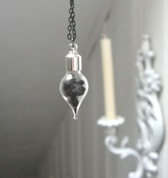 Wiccan Vial Pendant - magickal elderberry necklace herbs wicca pagan protection healing prosperity. $25.00, via Etsy.