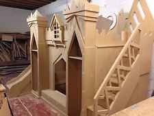 Bare Wood Disney Frozen Princess castle bed, Unpainted Ready For Decorating DIY