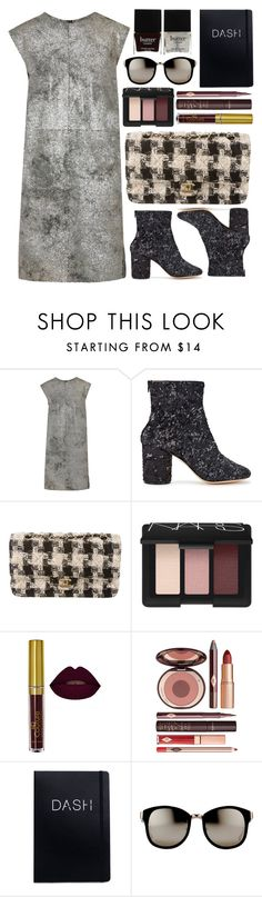 """Dashing."" by shanelala ❤ liked on Polyvore featuring MM6 Maison Margiela, Maison Margiela, Chanel, NARS Cosmetics, Charlotte Tilbury, Linda Farrow and Butter London"