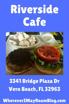 The Riverside Cafe is a locals favorite eatery in Vero Beach, Florida. They have awesome seafood eats, dozens of TV's for sporting events, a killer happy hour, and ultimate burgers.