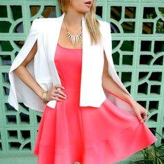 Neon Pink + White