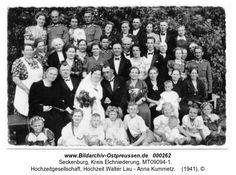 Seckenburg, Hochzeitgesellschaft, Hochzeit Walter Lau - Anna Kummetz
