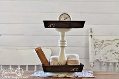 Repurposed Baking Pans Tiered Stand by https://knickoftimeinteriors.blogspot.com