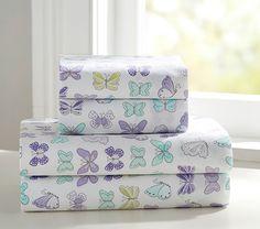 Organic Butterfly Standard Pillowcase, Lavender