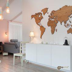 Lasercut world map