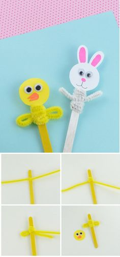 Easy Crafts To Sell Videos Homemade - Spring Crafts Ideas To Sell - - Cork Crafts For Kids Fun Spring Crafts For Kids, Easter Art, Bunny Crafts, Crafts For Kids To Make, Easter Crafts For Kids, Easter Activities, Summer Crafts, Holiday Crafts, Popsicle Stick Crafts