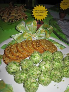 Wasabi Crusted Goat Cheese and Crackers - I'm curious...  **Cheese and crackers!