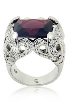 Camille CL Lucie - Stunning Ring in Deep Purple and Silver Jewellry Box, Deep Purple, Cl, Jewerly, Pretty, Rings, Silver, Jewlery, Schmuck