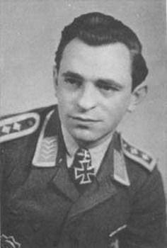 ✠ Hans Liebherr (5 April 1919 -  13 May 1968) RK 27.07.1944 Oberfeldwebel Bordfunker i. d. I./NJG 4(crew Herget)