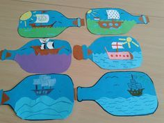 Pirate Art Project boat in a bottle drawings Pirate Art, Pirate Theme, Pirate Ship Craft, Pirate Ships, Pirate Birthday, Pirate Activities, Art Activities, Summer Crafts, Summer Art