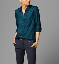 SILK STRIPE PRINT SHIRT - View all - Shirts & Blouses - WOMEN - România/Romania
