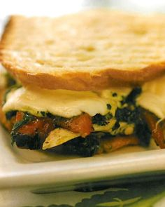 Use this pesto recipe, adapted from chef Tom Colicchio's 'wichcraft restaurant, to make his Chicken Breast with Roasted Peppers and Mozzarella. Photo Credit: Bill Bettencourt
