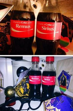 WHAT...... WHY I DO NOT HAVE THIS?... FOR MERLIN BREAD AND MORGANA'S LOVE... WHYYYYYYY... I NEED THIS .... THAT COCA MUST BE POLYJUICE POTION.. OR SOMETHING... FELIX FELICIS MAYBE.... OR... DEAR LORD... FOR AVALON ISLAND... I NEED THAT .... NOW I'M GOING TO BE SO DRAMATIC AND ANNOYING .... I'M GOING TO BE THE ANNOYING KARLA WHO WANT HIS COCA COLA WHIT MARAUDERS NAMES !!
