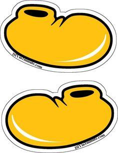 Resultado de imagen de mickey mouse shoes clipart