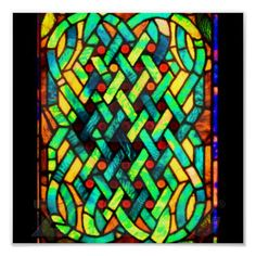 Poster-Vintage Stained Glass Art-30
