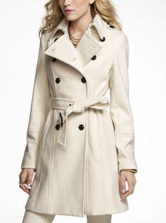 Cream Colored Pea Coat - Sm Coats
