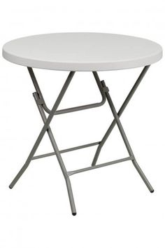 2ft 8in Round Plastic Folding Table Profile