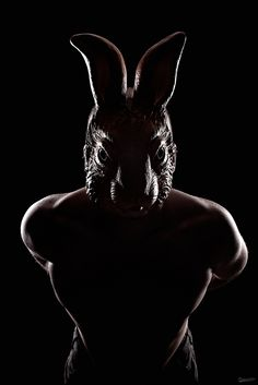 Lapin Noir. I'm loving the light. And I love how scary the bunny is. It's part of a series, by dracorubio