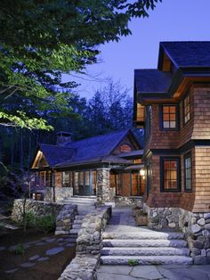 Coming Home. this cedar sided house looks so cozy and welcoming (via Carl Vernlund)