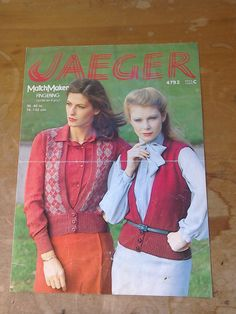 Original Retro Vintage 1980s Jaeger Knitting Pattern by MollyTops