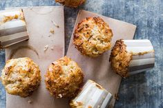 Sticky coconut and feijoa muffins