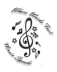Billedresultat for when words fail music speaks tattoo
