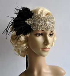 Clapet strass Gatsby le magnifique bandeau headband mariage Crystal Headband, Rhinestone Headband, Rhinestone Wedding, Great Gatsby Fashion, Great Gatsby Party, Gatsby Costume, Flapper Headband, Wedding Headband, Bandeau