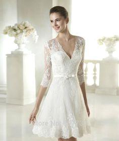 vestidos de novia cortos - Buscar con Google